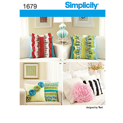 Buy Simplicity Pillows & Decorative Detachable Ruffles Sewing Pattern, 1679 Online at johnlewis.com