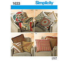Buy Simplicity Cushions Sewing Pattern, 1633 Online at johnlewis.com
