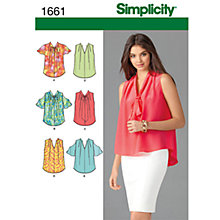 Buy Simplicity Blouses Sewing Leaflet, 1661, H5 Online at johnlewis.com