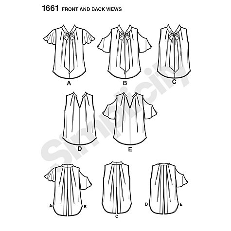 Buy Simplicity Blouses Sewing Pattern, 1661 Online at johnlewis.com
