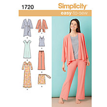 Buy Simplicity Easy to Sew Loungewear Sewing Leaflet, 1720, A Online at johnlewis.com