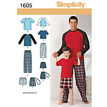 Buy Simplicity Men's/Boys' Nightwear Dressmaking Leaflet, 1605, A Online at johnlewis.com