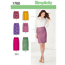 Buy Simplicity Women's Skirt Sewing Pattern, 1760 Online at johnlewis.com