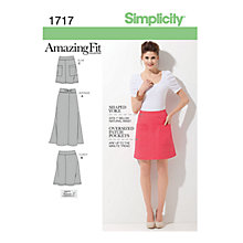 Buy Simplicity Amazing Fit Womens' Skirts Sewing Pattern, 1717 Online at johnlewis.com