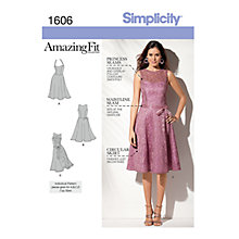 Buy Simplicity Amazing Fit Occasion Dress Sewing Pattern, 1606 Online at johnlewis.com