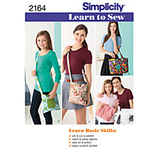 Buy Simplicity Learn to Sew Bags Sewing Leaflet, 2164 Online at johnlewis.com