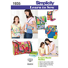 Buy Simplicity Learn to Sew Bags Sewing Leaflet, 1935 Online at johnlewis.com