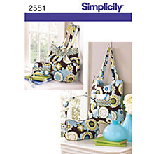 Buy Simplicity Bags Sewing Leaflet, 2551 Online at johnlewis.com