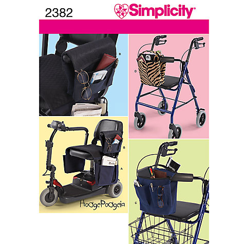 Buy Simplicity Bags Sewing Leaflet, 2382 Online at johnlewis.com