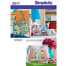 Buy Simplicity Bags Sewing Leaflet, 2617 Online at johnlewis.com
