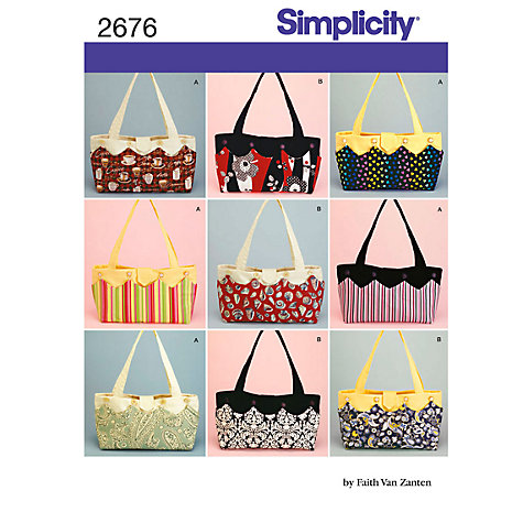 Buy Simplicity Bags Sewing Leaflet, 2676 Online at johnlewis.com