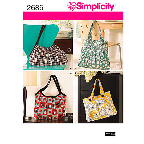 Buy Simplicity Bags Sewing Leaflet, 2685 Online at johnlewis.com