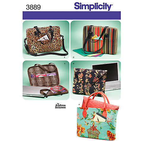 Buy Simplicity Bags Sewing Leaflet, 3889 Online at johnlewis.com
