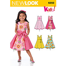 Buy New Look Children's Dresses Sewing Patterns, 6202 Online at johnlewis.com