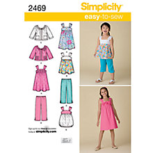 Buy Simplicity Easy to Sew Children Dressmaking Leaflet, 2469, K5 Online at johnlewis.com