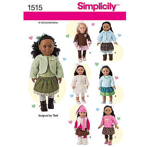 Buy Simplicity Craft Sewing Leaflet, 1515 Online at johnlewis.com