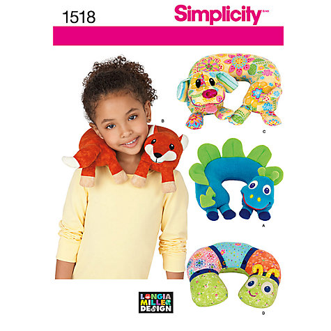 Buy Simplicity Child's Animal Neck Pillows Sewing Leaflet, 1518 Online at johnlewis.com
