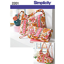 Buy Simplicity Bags Sewing Leaflet, 2201 Online at johnlewis.com