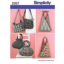 Buy Simplicity Bags Sewing Leaflet, 2357 Online at johnlewis.com