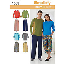 Buy Simplicity Easy to Sew Loungewear Dressmaking Leaflet, 1503, A Online at johnlewis.com