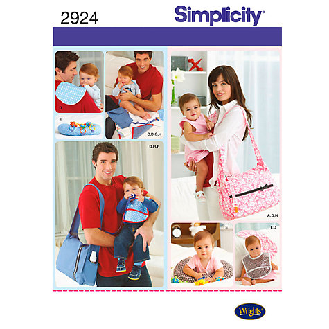 Buy Simplicity Bags Sewing Leaflet, 2924 Online at johnlewis.com