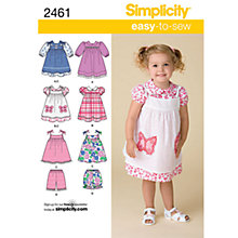 Buy Simplicity Easy to Sew Children Dressmaking Leaflet, 2461, A Online at johnlewis.com