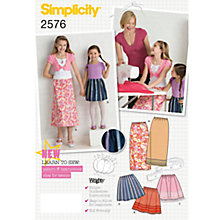 Buy Simplicity Girls' Skirts Sewing Pattern, 2576 Online at johnlewis.com