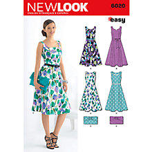 Buy Simplicity New Look Dresses Dressmaking Leaflet, 6020 Online at johnlewis.com