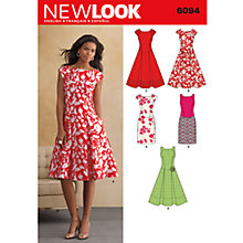 Buy Simplicity New Look Dresses Dressmaking Leaflet, 6094 Online at johnlewis.com