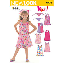 Buy New Look Children's Dresses & Bandanna Sewing Patterns, 6478 Online at johnlewis.com