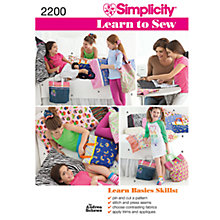 Buy Simplicity Learn to Sew Pillow Case & Accessories Sewing Leaflet, 2200 Online at johnlewis.com