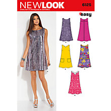 Buy New Look Women's Dresses Sewing Patterns, 6125 Online at johnlewis.com