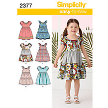 Buy Simplicity Easy to Sew Children Dressmaking Leaflet, 2377, A Online at johnlewis.com