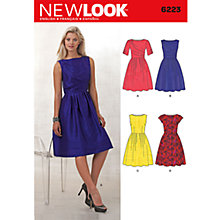 Buy New Look Women's Dresses Sewing Patterns, 6223 Online at johnlewis.com