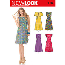 Buy Simplicity New Look Dresses Dressmaking Leaflet, 6183 Online at johnlewis.com