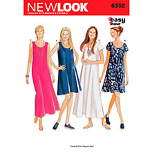 Buy Simplicity New Look Dresses Dressmaking Leaflet, 6352 Online at johnlewis.com