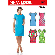 Buy Simplicity New Look Dresses Dressmaking Leaflet, 6176 Online at johnlewis.com