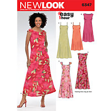 Buy New Look Women's Dresses Sewing Patterns, 6347 Online at johnlewis.com