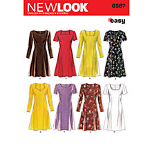 Buy New Look Women's Dresses Sewing Patterns, 6567 Online at johnlewis.com