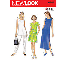 Buy Simplicity New Look Dresses Dressmaking Leaflet, 6602 Online at johnlewis.com