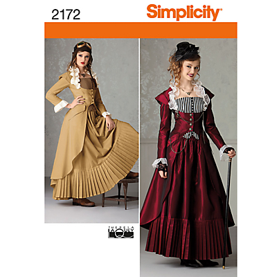 Simplicity Costume Dressmaking Leaflet 2172 £5.65 AT vintagedancer.com