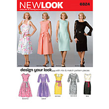 Buy New Look Women's Dresses Sewing Pattern, 6824 Online at johnlewis.com
