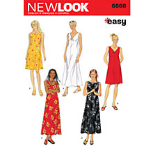 Buy New Look Women's Dresses Sewing Patterns, 6866 Online at johnlewis.com