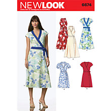 Buy Simplicity New Look Dresses Dressmaking Leaflet, 6674 Online at johnlewis.com