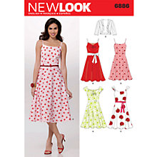 Buy New Look Women's Dresses & Jacket Sewing Pattern, 6886 Online at johnlewis.com