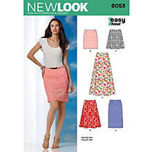 Buy Simplicity New Look Skirts Dressmaking Leaflet, 6053 Online at johnlewis.com