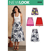 Buy New Look Women's Skirts Sewing Patterns, 6106 Online at johnlewis.com