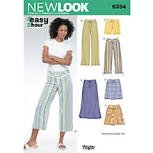 Buy Simplicity New Look Skirts/Shorts/Trousers Dressmaking Leaflet, 6354 Online at johnlewis.com
