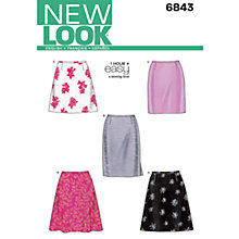 Buy Simplicity New Look Skirts Dressmaking Leaflet, 6843 Online at johnlewis.com