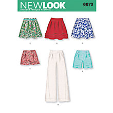 Buy Simplicity New Look Skirts/Trousers/Shorts Dressmaking Leaflet, 6873 Online at johnlewis.com